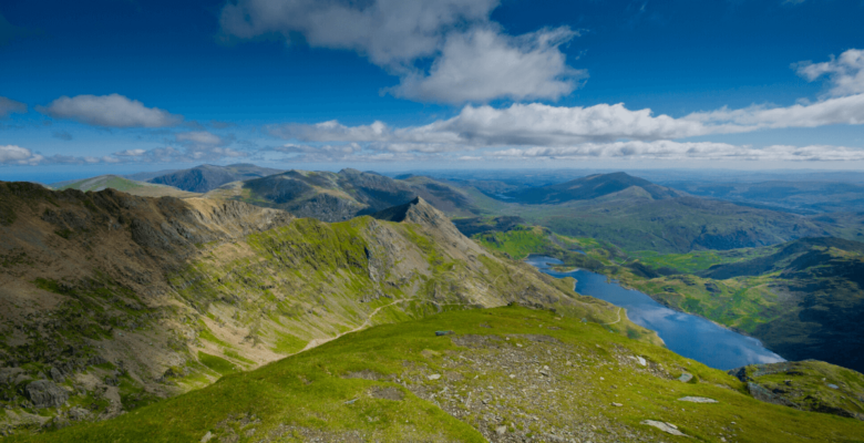 view of lake from mount snowdon