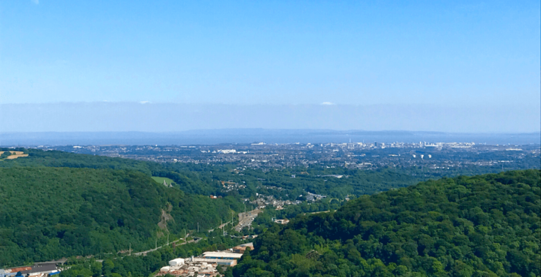 view of cardiff from garth mountain