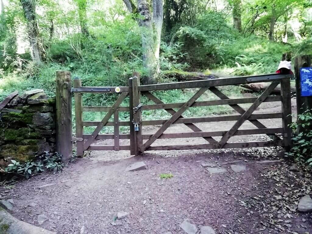 gate at the top of caer wood