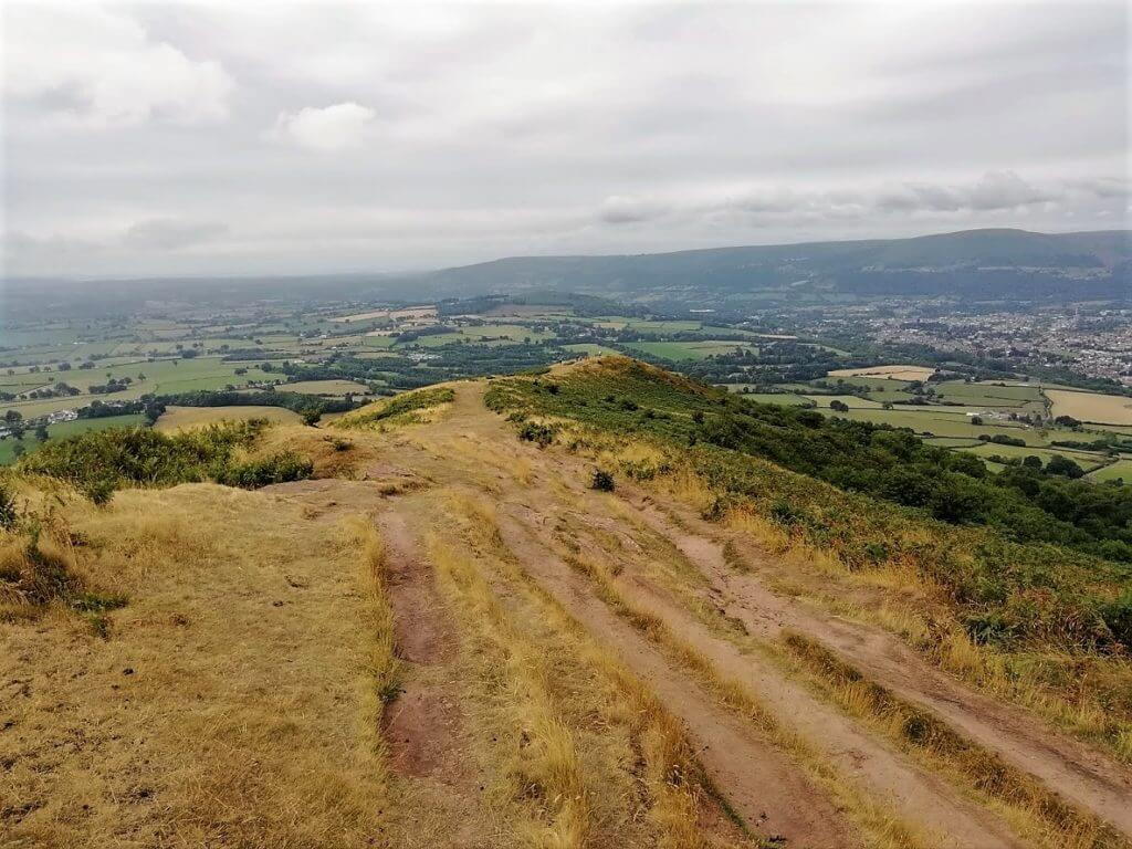 view of abergavenny from the skirrid
