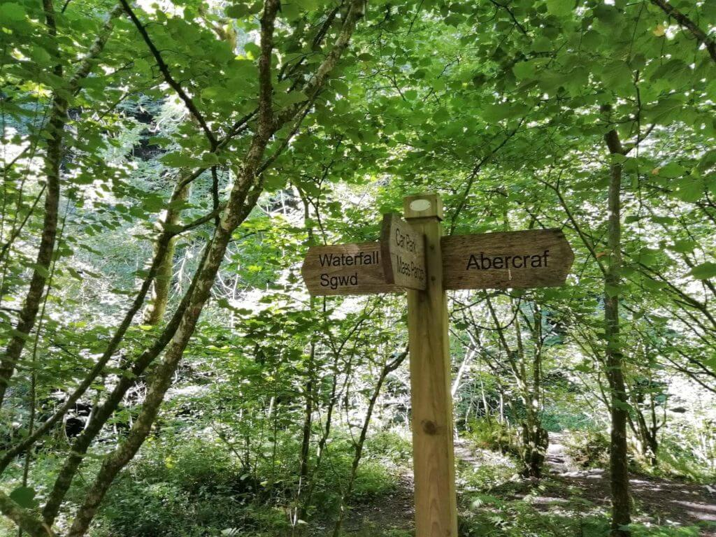 henrhyd waterfall sign
