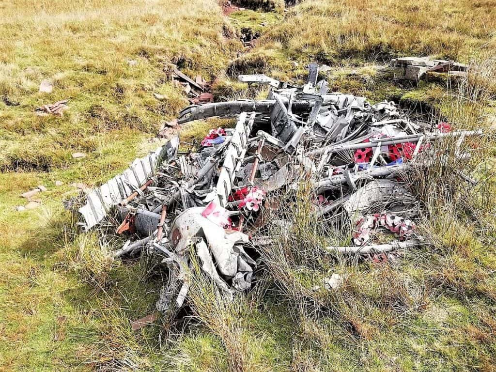wreckage of wellington bomber r1465