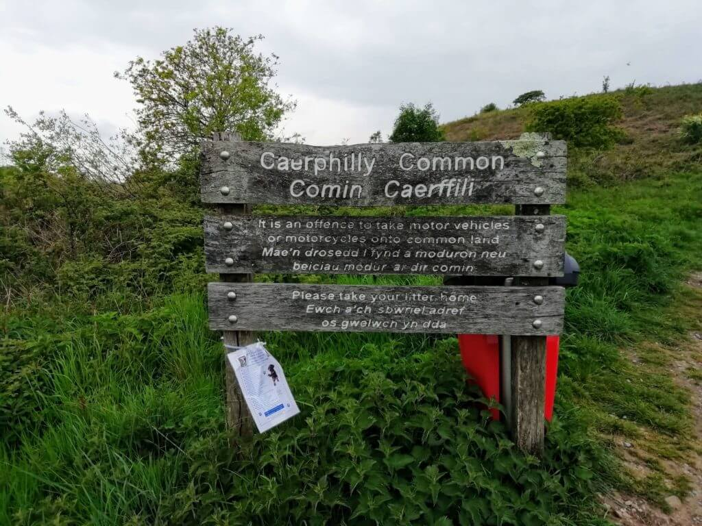 caerphilly common sign