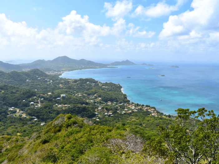southerly view of carriacou from high north peak