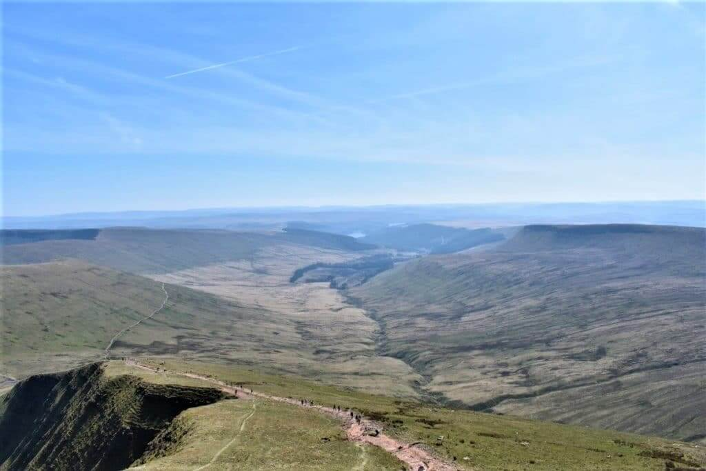 taf fechan valley from pen y fan