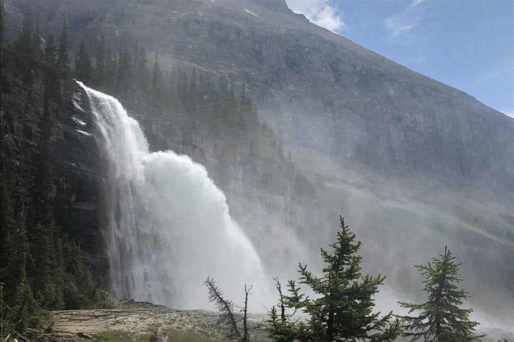 emperor falls cascading from the mountains