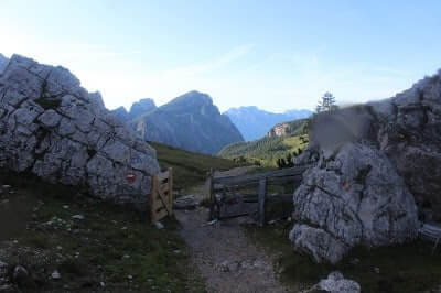 Gateway to Path Down to Rifugio Vazzoler
