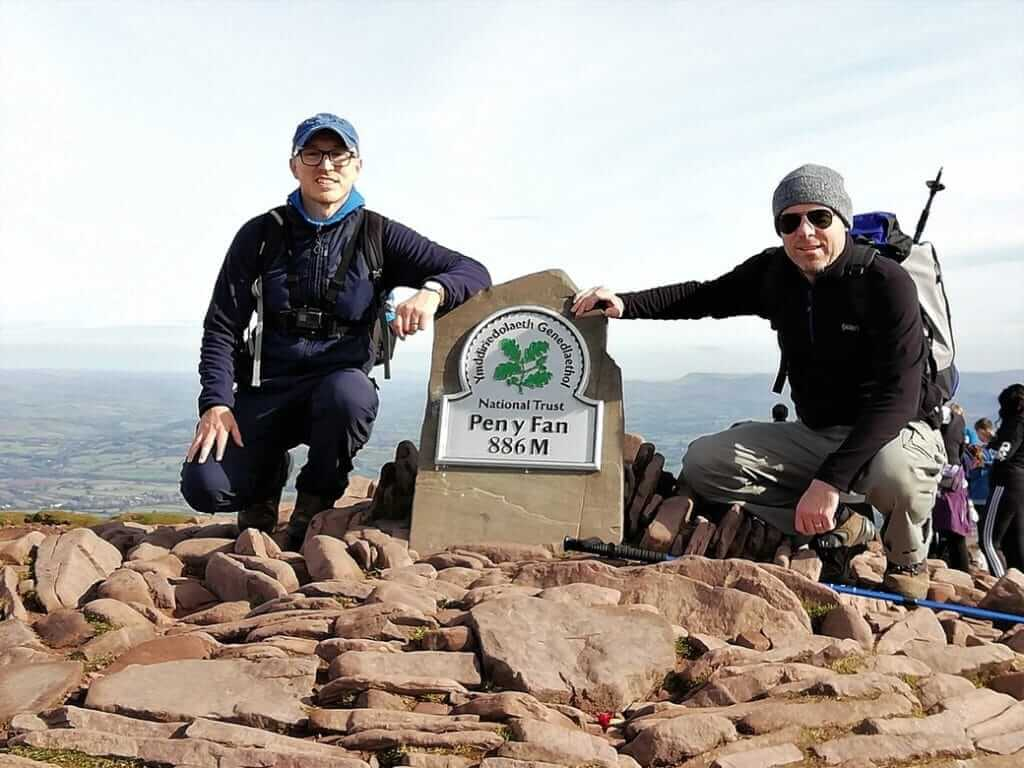 gavin and rob at the summit of pen y fan