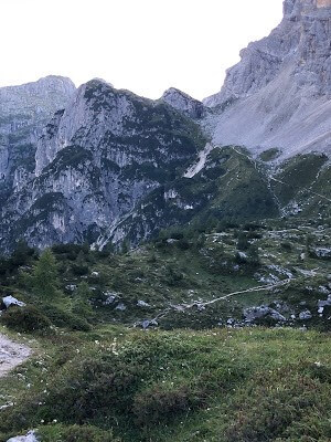 View from the Rifugio Tissi Ascent