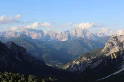 Beautiful View on Route Approaching Rifugio Pramperet