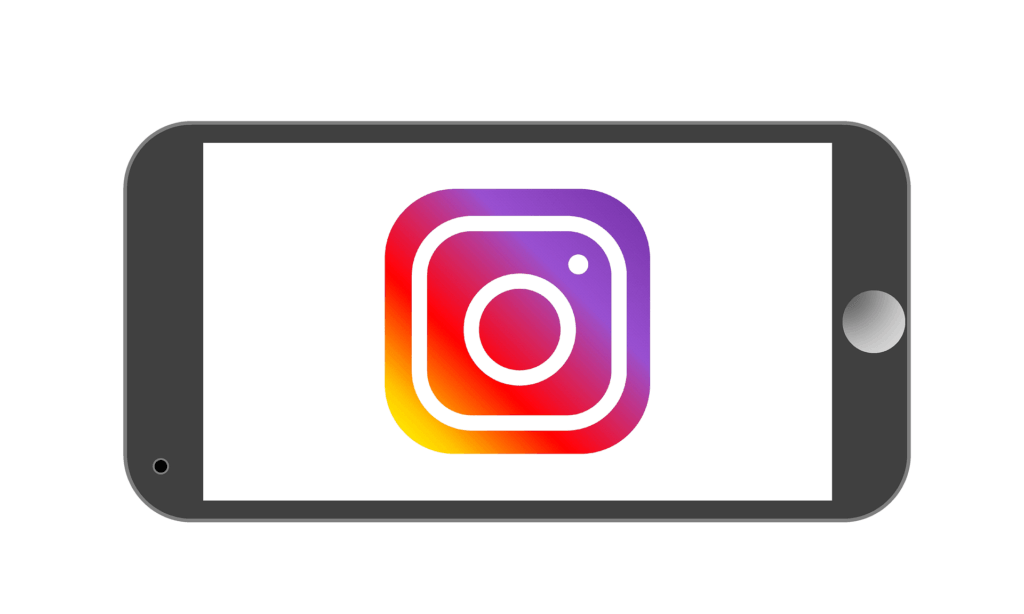 instagram logo on mobile screen