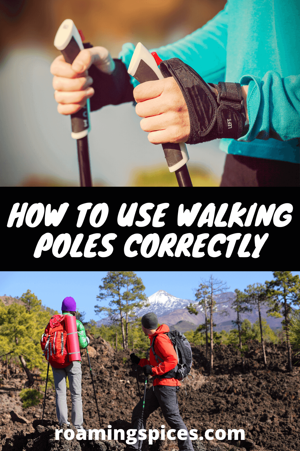 how to use walking poles