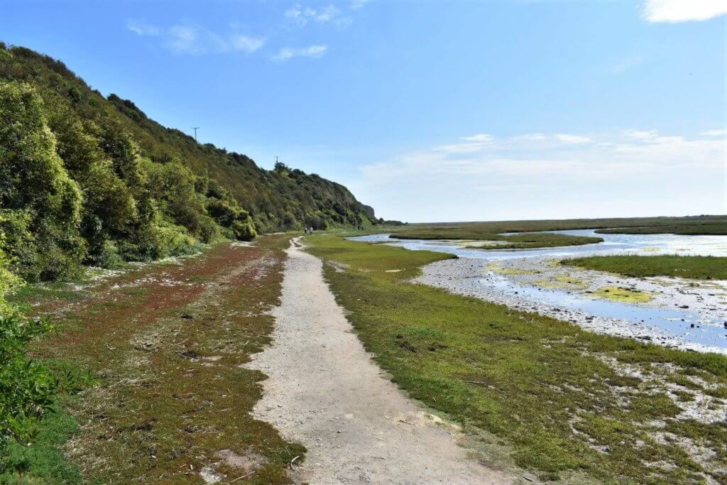 wales coastal path at aberthaw