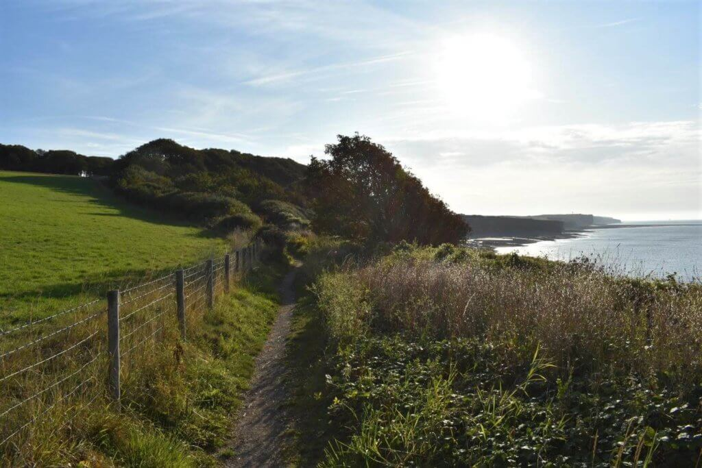 walking east along the south wales coastal path