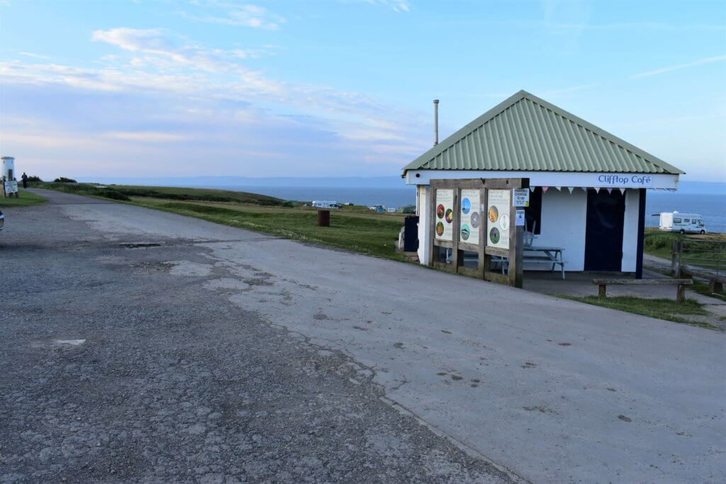 clifftop cafe at nash point