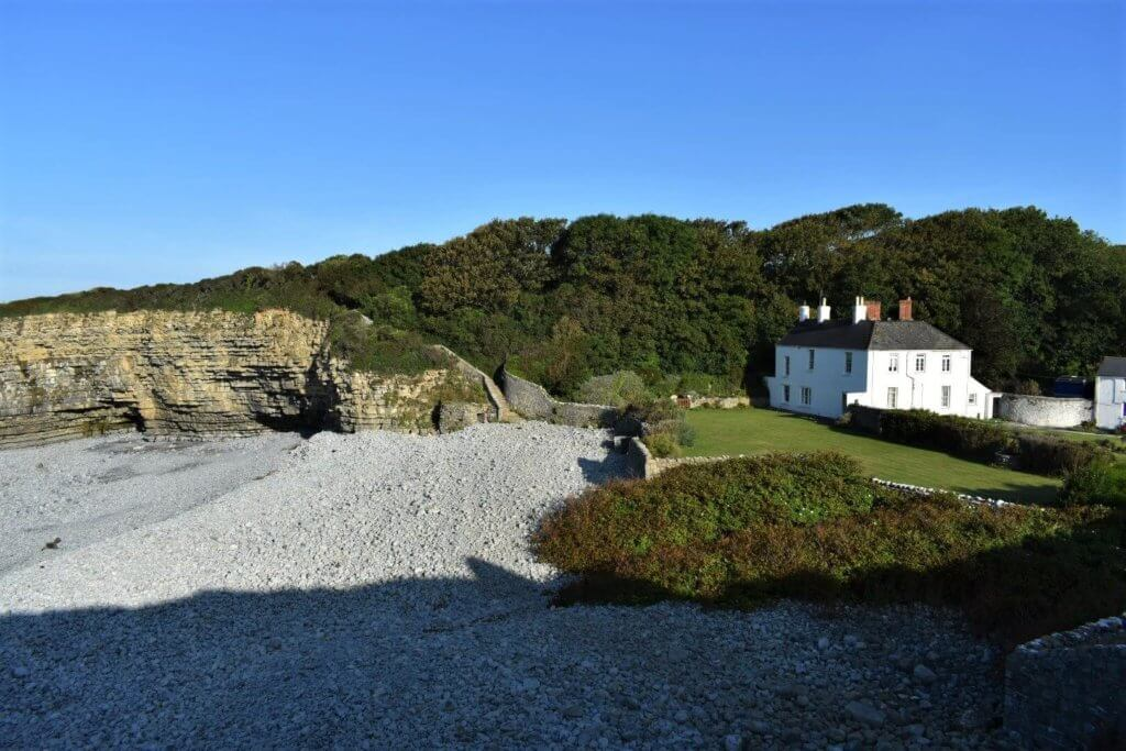 tresilian bay and house
