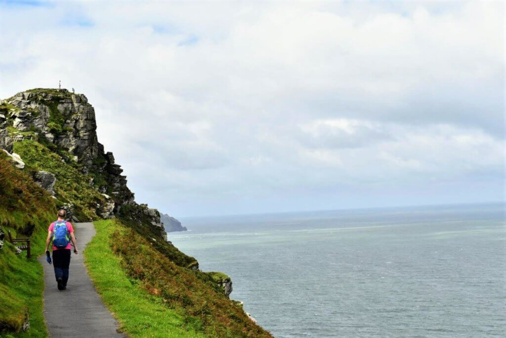 south west coastal path hugs cliff edge