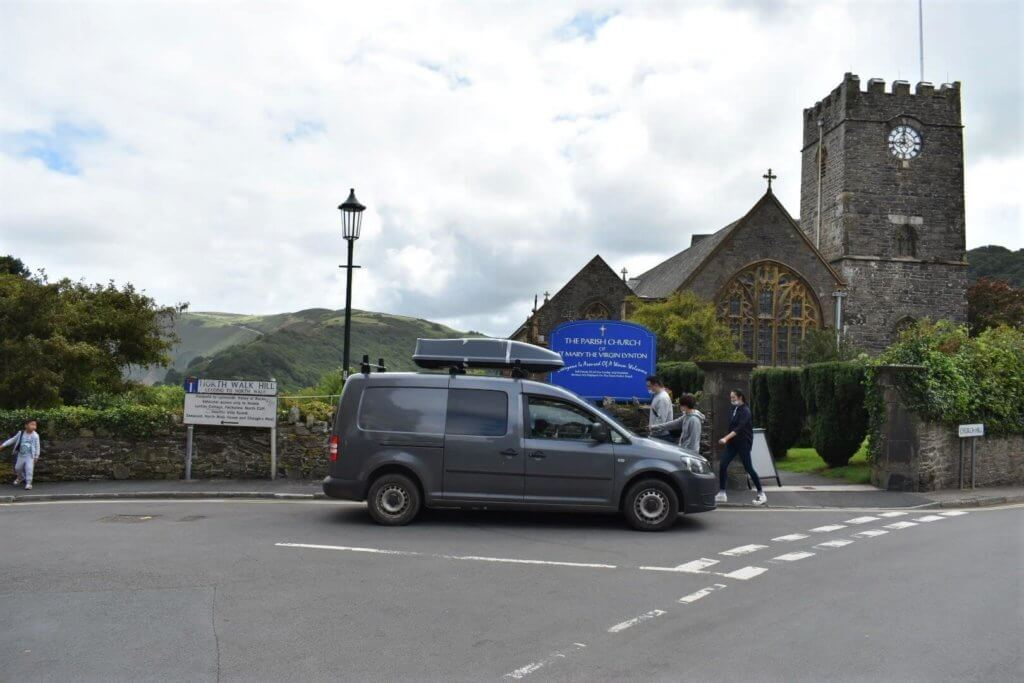 turning left on to north walk hill in lynton devon