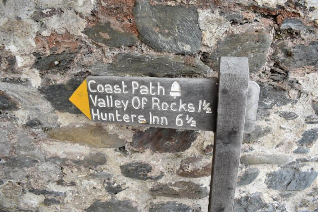 the valley of the rocks signpost