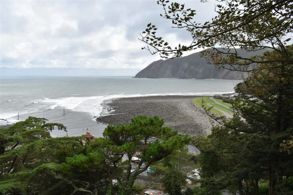view across lynmouth bay