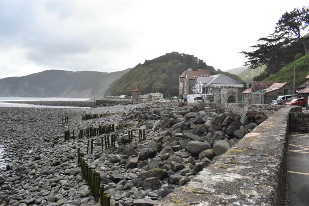 view from esplanade car park in lynmouth