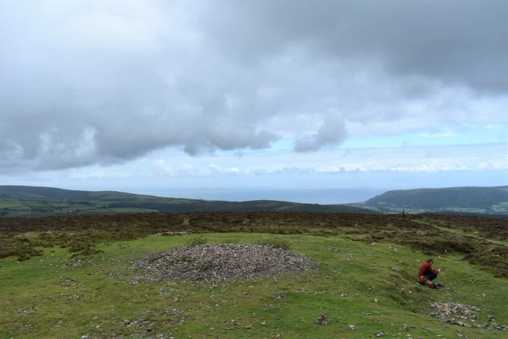 northerly view from the summit
