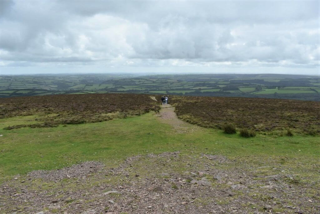 southerly view from the summit of dunkery beacon