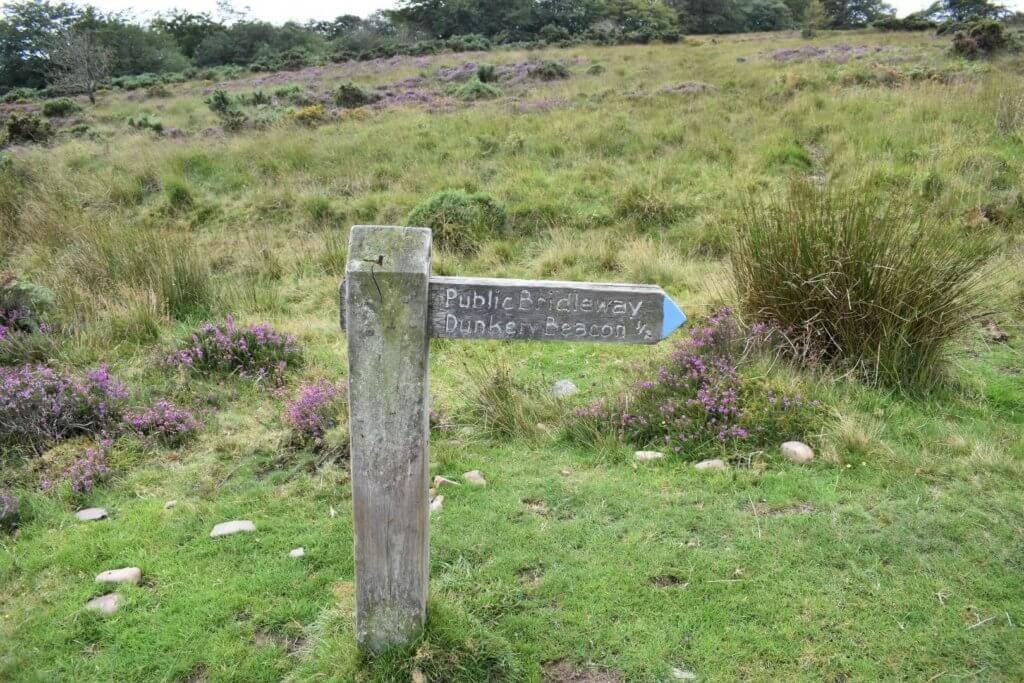 wooden dunkery beacon sign