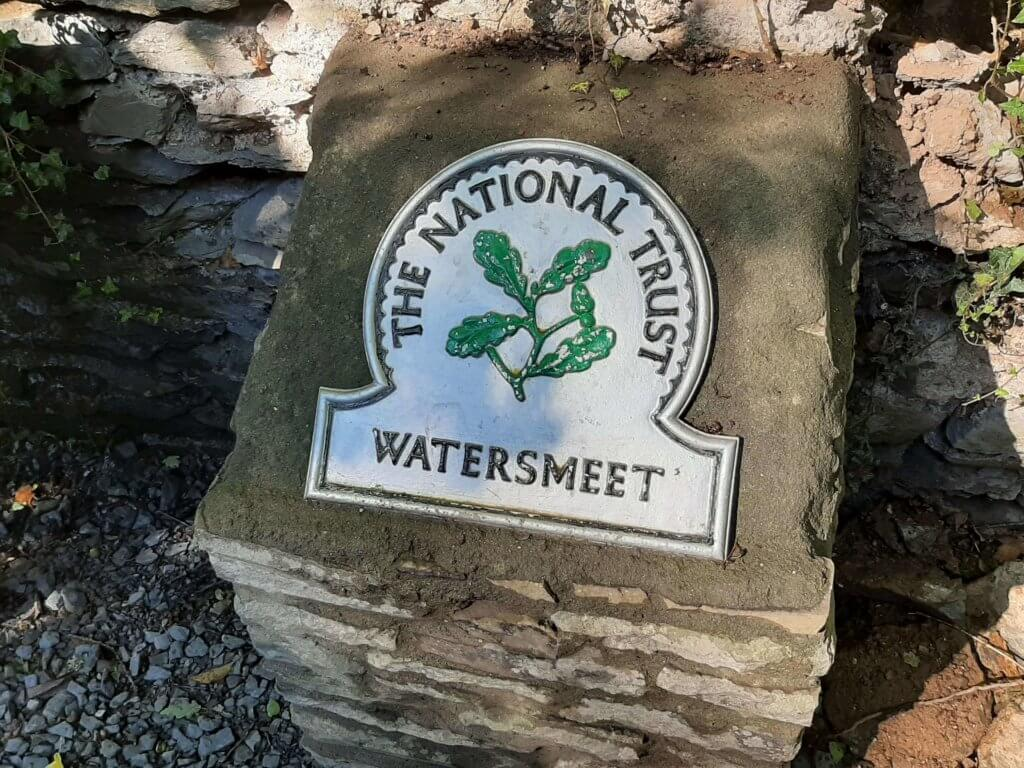 watersmeet stone national trust sign