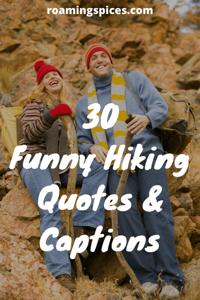 Funny hiking quotes and captions pinterest pin
