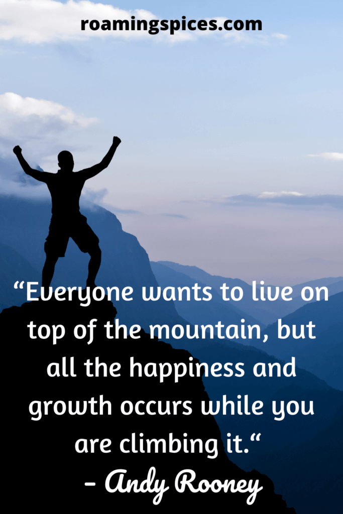 andy rooney hiking quote