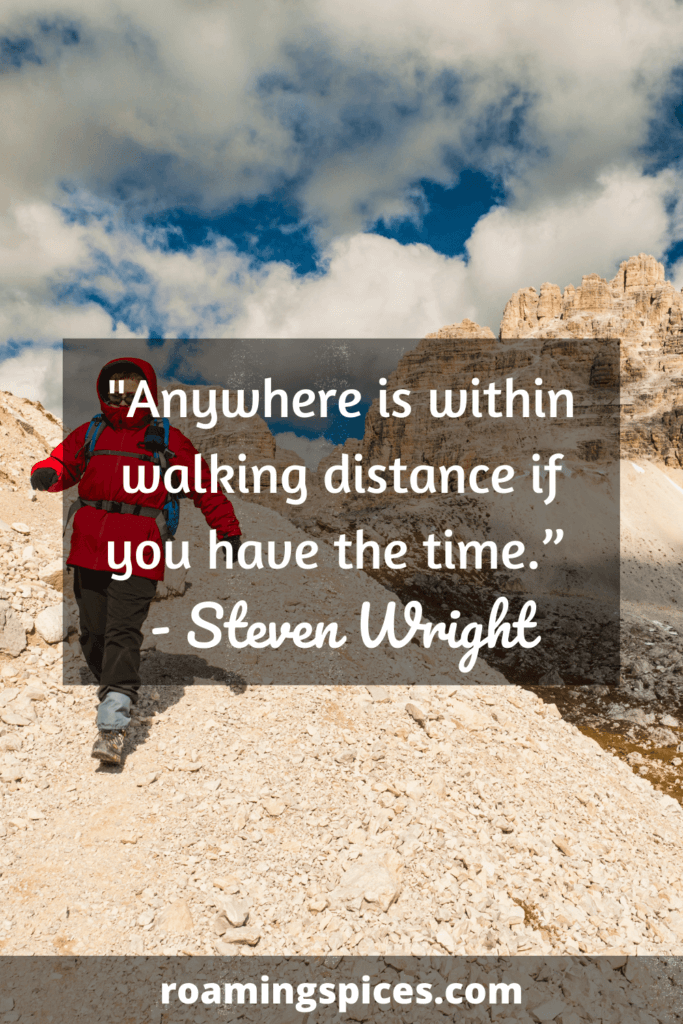 Steven Wright funny hiking quotes and captions