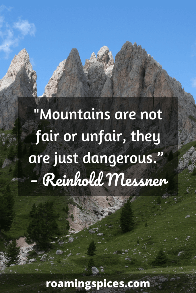 Reinhold Messner mountains quote