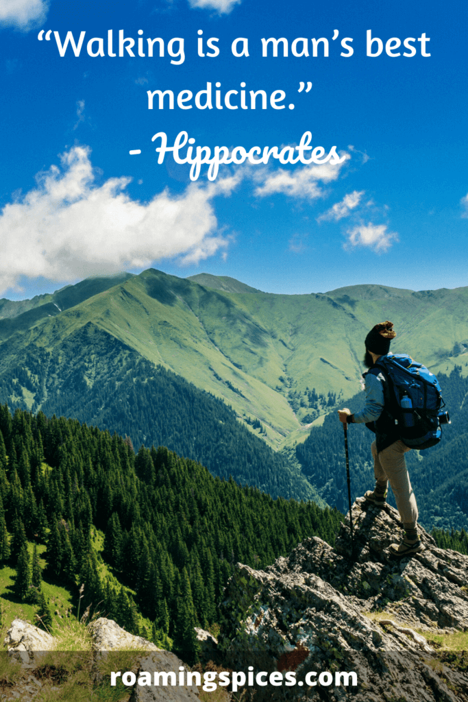 Hippocrates walking quote