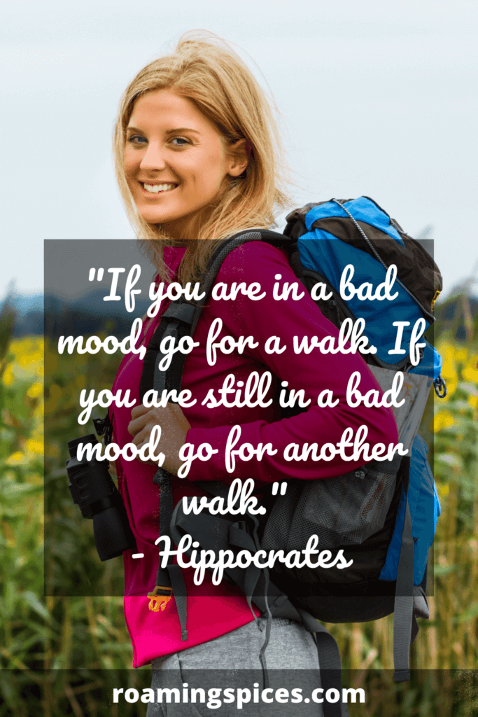 Hippocrates quote about hiking