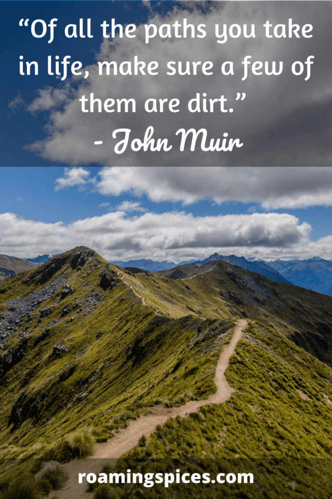 one of john muir's inspirational hiking quotes