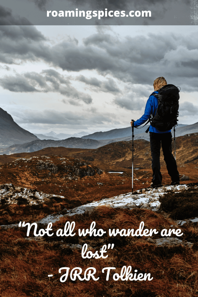 JRR Tolkien hiking quote
