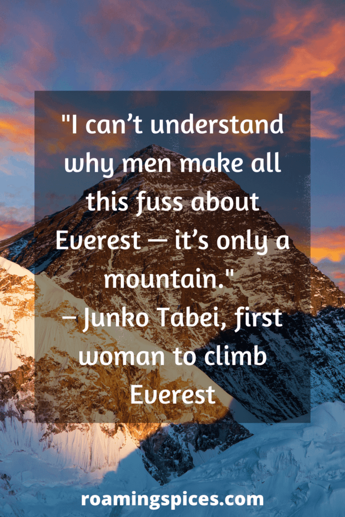 Junko Tabei funny hiking quotes
