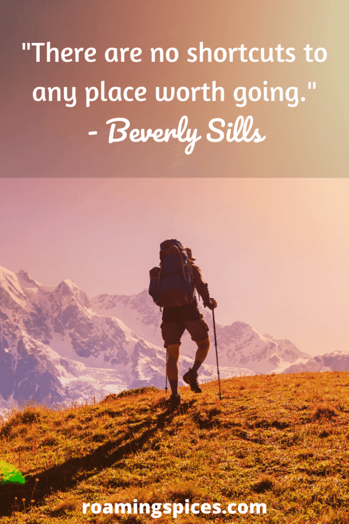 beverly sills hiking quote