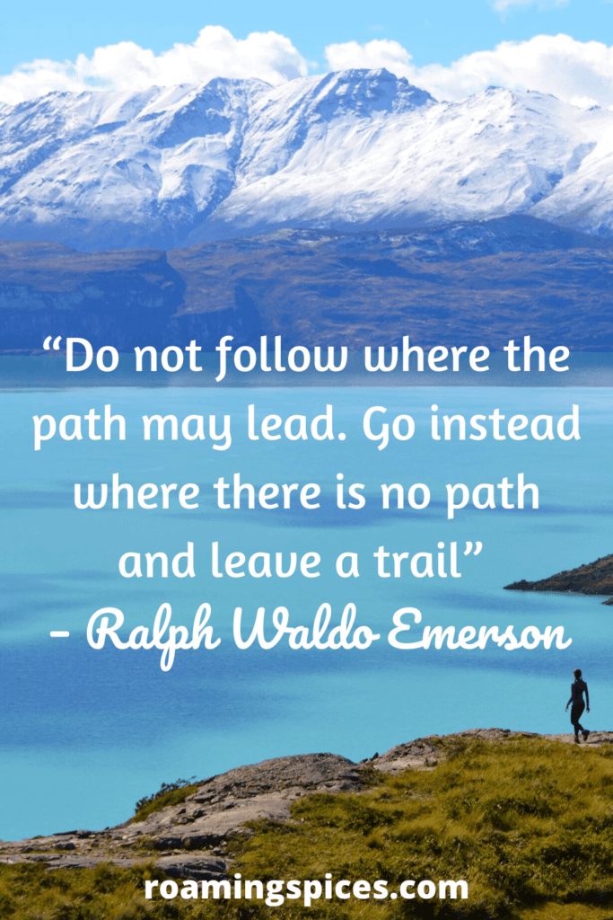 inspirational hiking quotes by Ralph Waldo Emerson