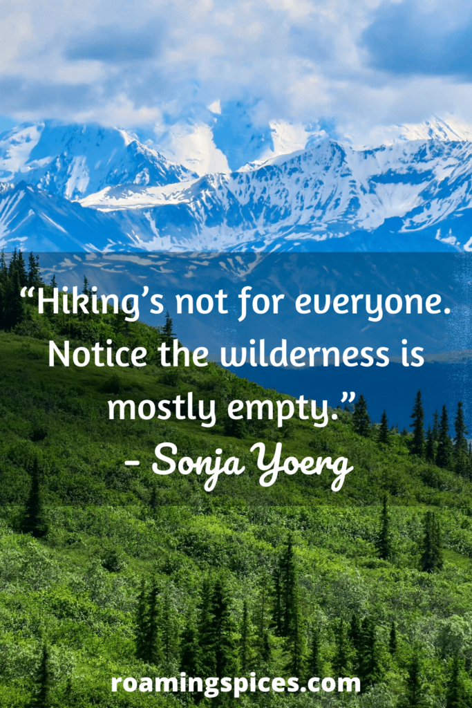 inspirational hiking quotes by Sonja Yoerg