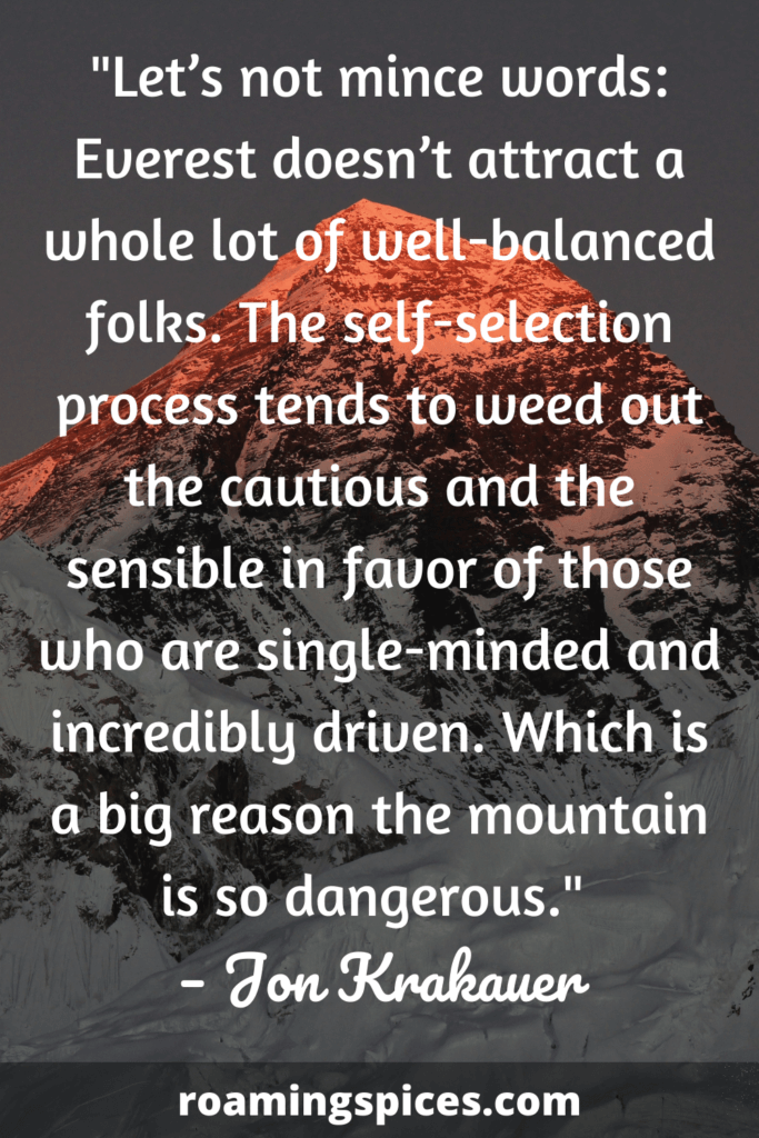 Jon Krakauer funny quotes about hiking