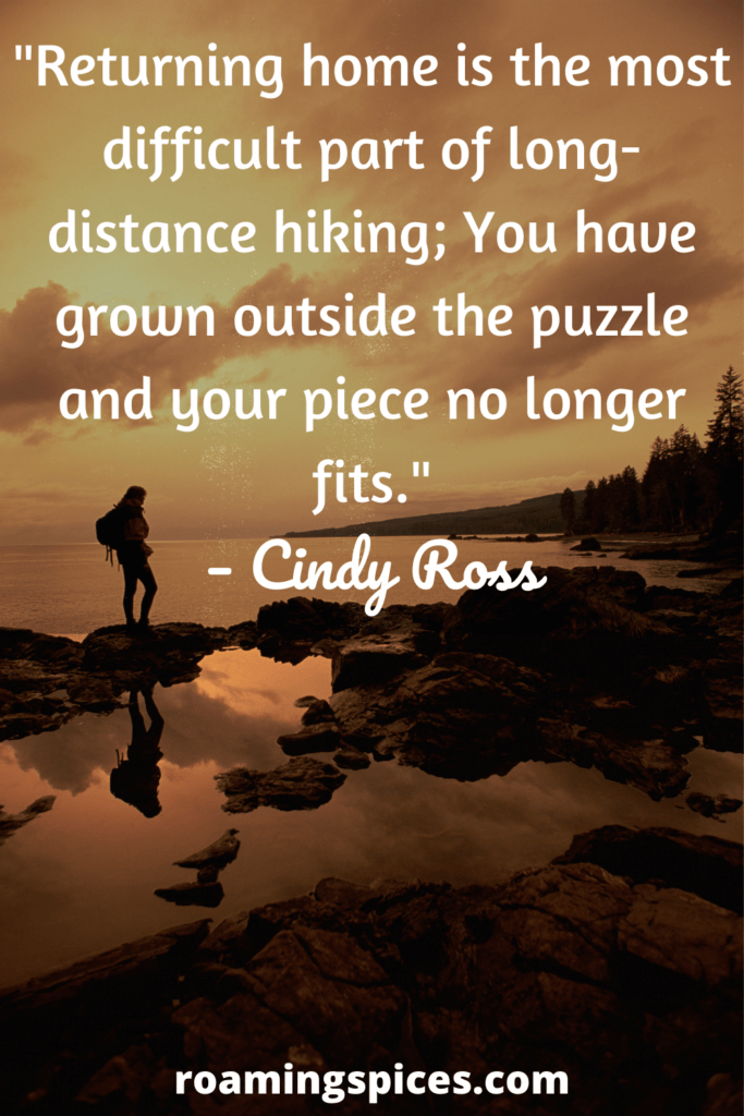 cindy ross hiking quote