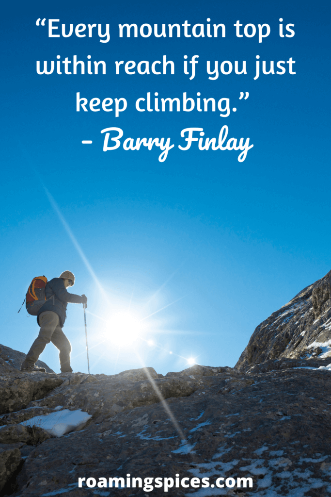 Barry Finlay hiking captions
