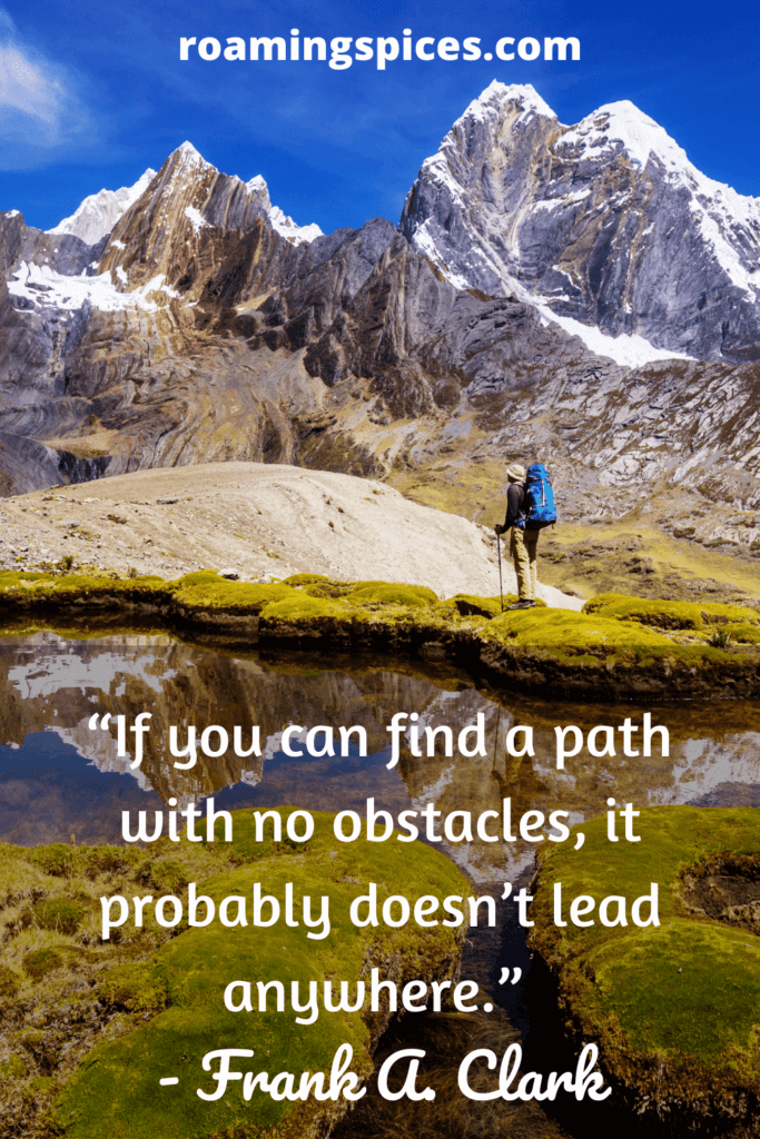A Frank A. Clark inspiratonal hiking quote