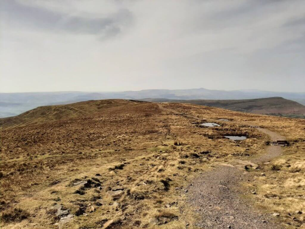 south westerly path leading from the summit of waun fach