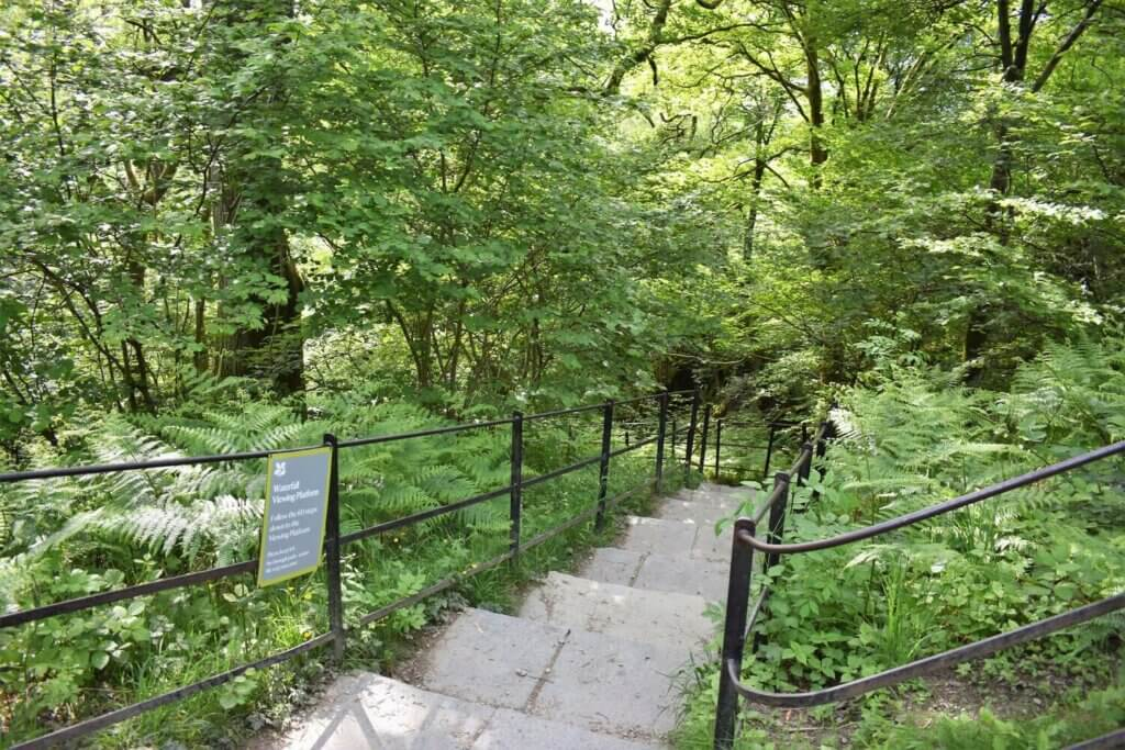 steps to aira force waterfall viewing platform