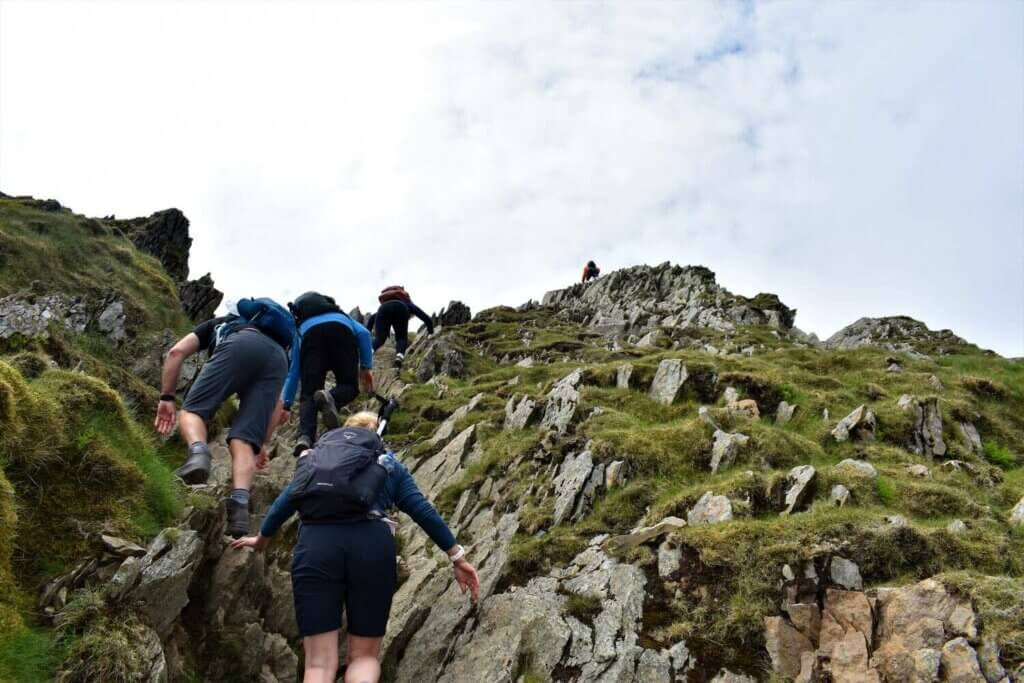final climb to the summit plateau of helvellyn