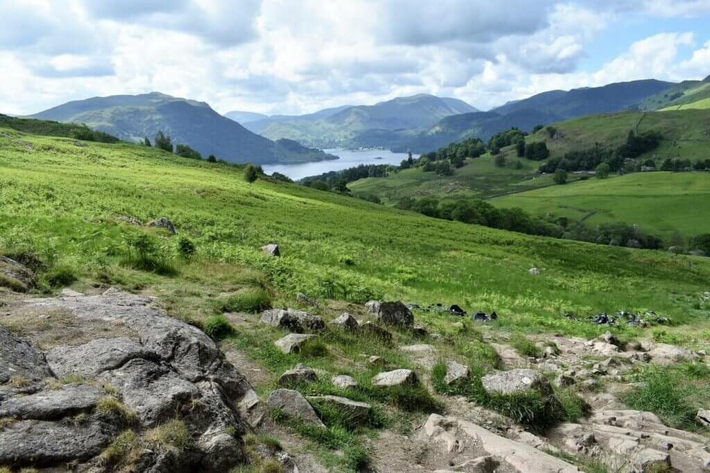 view of ullswater from gowbarrow fell