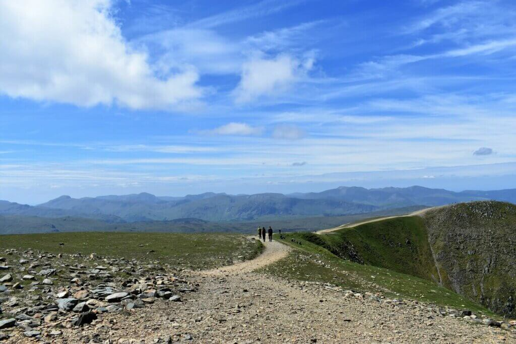 views to the north from the summit of helvellyn